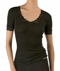 Calida Richesse Lace t-shirt met korte mouwen 14990 black