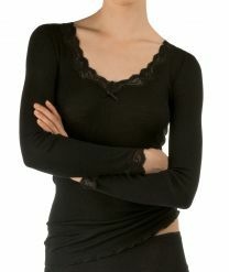 Calida Richesse Lace t-shirt met lange mouwen 15990 black